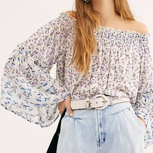 NWT Free People Rose Valley Off Shoulder Blouse